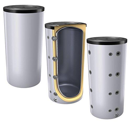 300 Liter Pufferspeicher / Heizungsspeicher - Warmwasserspeicher für Heizungswasser, Energieeffiziensklasse B, ohne Wärmetauscher, inkl. Isolierung. Für Trinkwasser siehe emaillierte EWS8B Reihe.