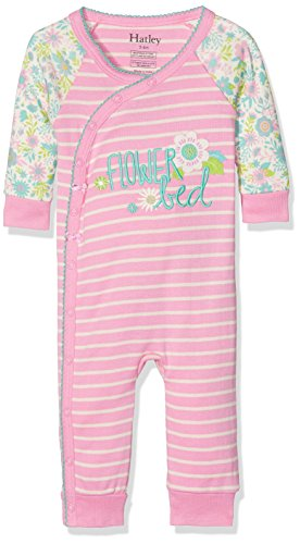 Footie Sleeper (Hatley Mädchen 100% Organic Cotton Baby Wrap Sleepsuit Schlafstrampler, Pink (Wallpaper Flowers 650), 3-6 Monate)