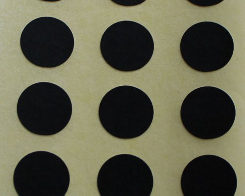 150 Etiquetas, 10mm Diámetro Redondo Círculos, Negro, Pegatinas Autoadhesivas, Minilabel Formas