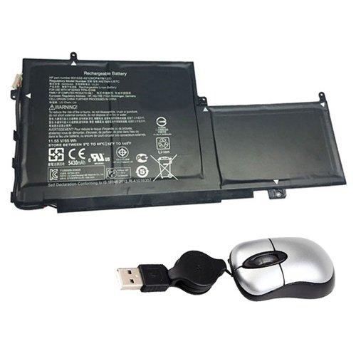 Amsahr PG03XL-05 - Batería de reemplazo para HP PG03XL, PG03064XL, HP HSTNN-LB7C, 831532-421, TPN-Q168 (Incluye Mini ratón óptico) Color Gris