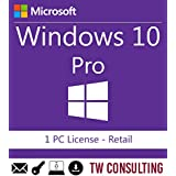 Windows 10 Professional Retail 1PC | Entrega electrónica de software Descarga versión completa de 32 y 64 bits + instruccione