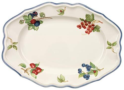 Villeroy & Boch Cottage Plat de service, 37 cm, Porcelaine Premium, Blanc/Multicolore