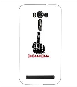 PrintDhaba Middle Finger D-5493 Back Case Cover for ASUS ZENFONE 2 LASER ZE550KL (Multi-Coloured)