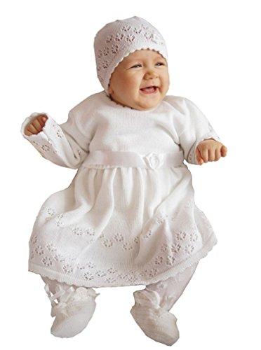 Babykleid Taufkleid Strickkleid Festkleid Baby Taufe Kleid gestrickt, Elsa 80