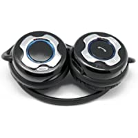 iZKA - Auriculares supraurales de contorno de cuello (Bluetooth, inalámbricos, micrófono incorporado)