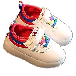 LED Sport Kinderschuhe, Chickwin Kinderschuhe Jungen Mädchen bunte LED-Leuchten Schuhe SportSchuhe Flashing Schuhe (Rot, 6.5)