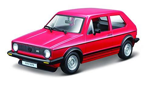 Bburago - Maqueta de Volkswagen Golf Mk1 GTI (1979, escala 1:24), color Rojo