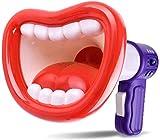 Volwco Kids Voice Changer Toy, Giocattoli per Microfono con Registrazione a Tromba, Megafono Bambino Scherzo Giocattolo Registrazione Audio Altoparlante Effetti sonori Big Red Lips Toy Bianco