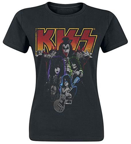 KISS Band-Photo Camiseta Negro XL