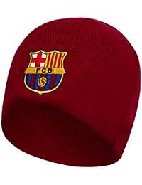 FCB FC Barcelona - Gorro básico oficial de punto - Con el escudo del club