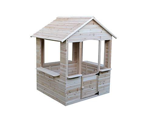 GASPO Spielhaus aus Holz | L 120 cm x B 107 cm x H 140 cm | Kinderspielhaus für den Garten und Drinnen