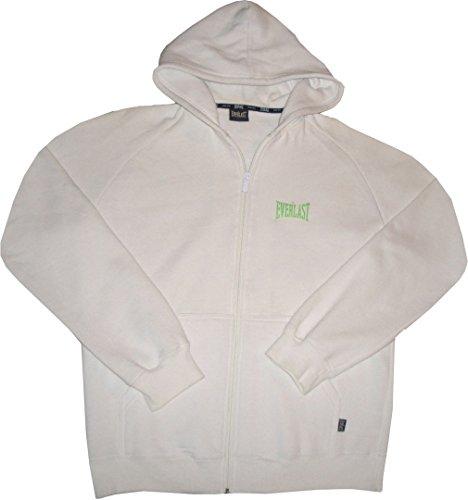 Everlast Hoody FZ. Sweatshirt mit gefütterter Kapuze und durchgehenden Reissverschluss. Large (Everlast Gerippt)