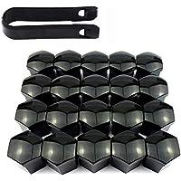 ARTGEAR 20 Piezas Universal Tapones Tapas de Tornillos Tuerca para rueda Neumática Llanta de Coche con herramienta para extaer (17mm)