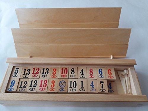 Gran juego rummikub rummy hecho mano madera