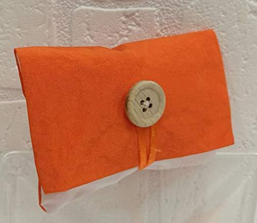 10Stück Beutel Umschlag mit Druckknopf konfektschachtel Taffeta Acetat Orange
