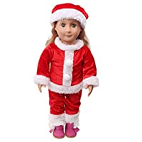 SHOBDW Doll Clothes, Hot! 2PCS Cute Cartoon Floral Stars Pajamas Sets Nightgown for 18 inch Our Generation American Girl Gifts Doll Clothes (Excluding Dolls)