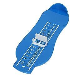 Rrimin Kid Infant Foot Measure Gauge Shoes Size Measuring Ruler Tool (Blue)