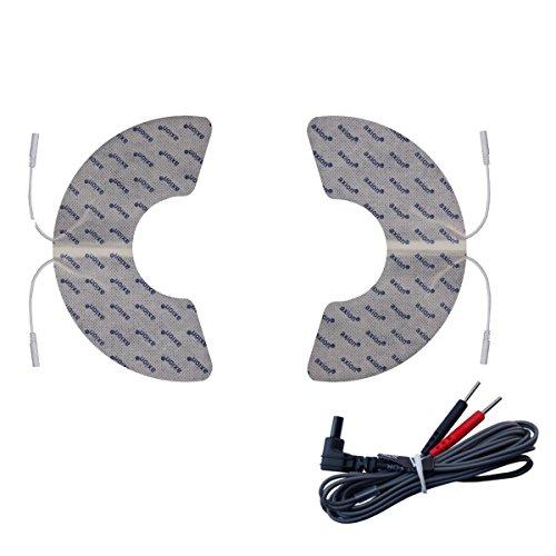 Electrodos hombro compatibles con VITALCONTROL - 2 parches diseñados especialmente - para electroestimuladores conexión de botón 3,5mm - almohadillas calidad axion