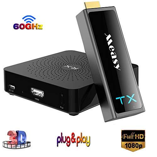 MEASY W2H Mini II 2 Kabelloses HD-Kit HDMI-Adapter mit 60-GHz-Frequenz bis zu 30 m für Audio-Video-Sender und -Empfänger 30 Audio
