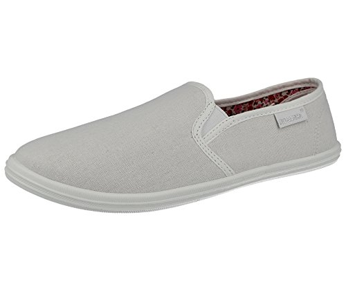 Ladies Canvas Low Top Slip On Flat Plimsoll Espadrille Pumps Trainers Size 3-9