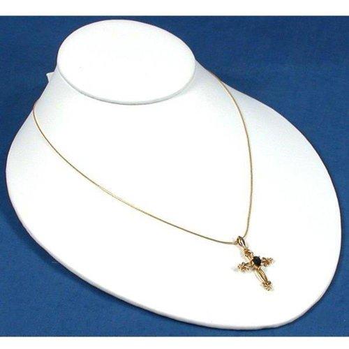 Findingking Lot Blanc Collier de cuir dans Slatwall Présentoir à bijoux