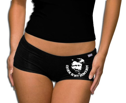 Touchlines Damen Chuck Norris is my Homeboy Panty - Short T-Shirt black S (Honig Hipster)