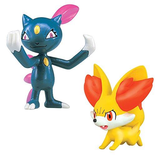 Tomy Pokémon - T18406 - Mini Figurine Manga - Feunnec Vs Farfuret - Pack de 2