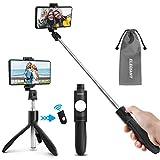 ELEGIANT Perche Selfie Bluetooth, Selfie Stick Trépied Monopode avec Télécommande Amovible 360°...