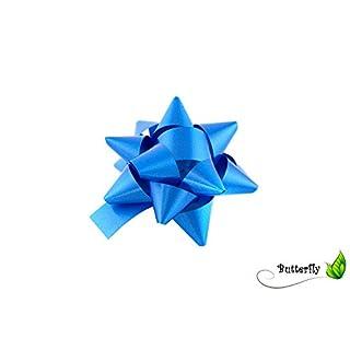 10 Stück Geschenkschleifen 8cm blau / königsblau // Fertigschleifen mit Klebepads, Rosetten, Polybandschleifen, Dekoschleifen