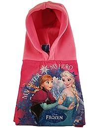Bufanda Braga Cuello con gorro incorporado Frozen Disney para niñas (Rosa)