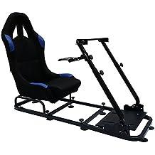 FK-Automotive Game Seat Spielsitz für PC und Spielekonsolen Stoff schwarz/blau