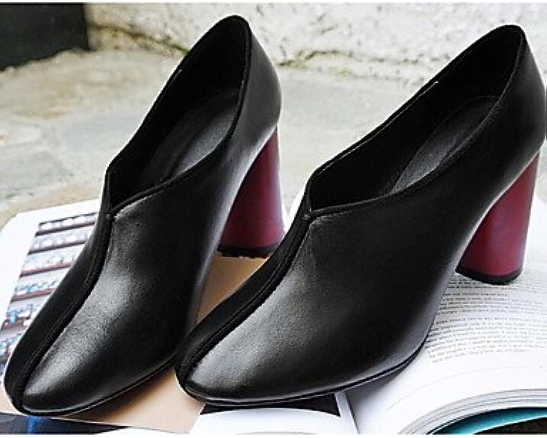 Botas De La Mujer Confort Pu Otoño Invierno Confort Informal Marrón Gris Negro Plano Negro Us6 / Ue36 / Uk4 /...