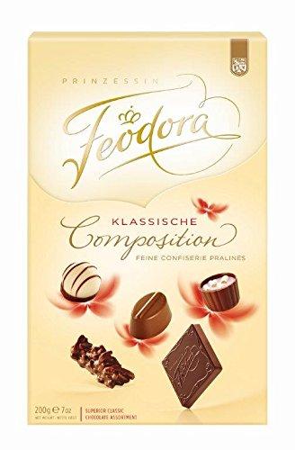 Feodora Chocolade Klassische Composition, 1er Pack (1 x 200 - Geschenk Edelbitter-schokolade Gourmet