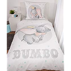 Herding Disney`s Dumbo Juego de Cama, algodón, Blanco, 80 x 80 cm, 135 x 200 cm