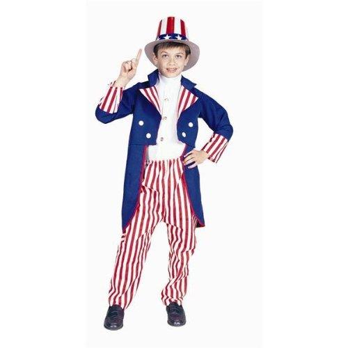 RG Kost-me 90913-L Uncle Sam Kost-m - Gr--e Child-Large (Kind Kostüm Uncle Sam)