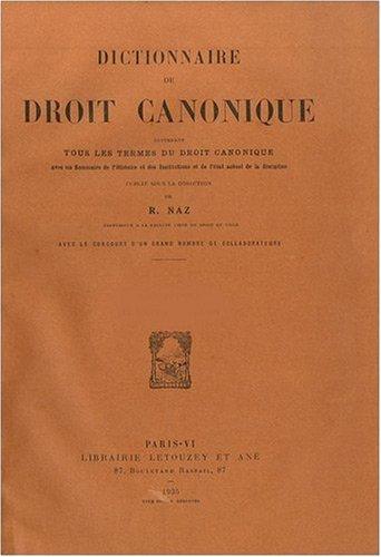 Dictionnaire de droit canonique, 7 volumes