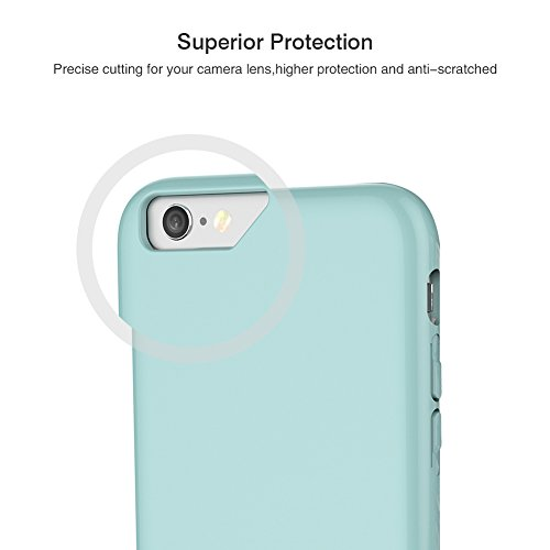 iPhone 7 Case, SOUNDMAE Dual Layer Hybrid Microfiber & PC Anti-impact Shockproof Antiskid Splice Nice Touch Case Cover For iPhone 7 [Pink] Himmelblau