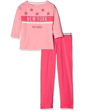 Tommy Hilfiger Mädchen Zweiteiliger Schlafanzug Cotton Set 3/4 Slv Iconic