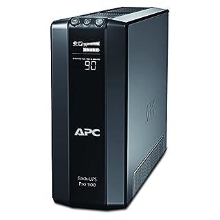 APC Back UPS PRO USV 900VA - BR900G-GR - inkl. 150.000 Euro Geräteschutzversicherung (5-Schuko, Stromsparfunktion, Multifunktionsdisplay)