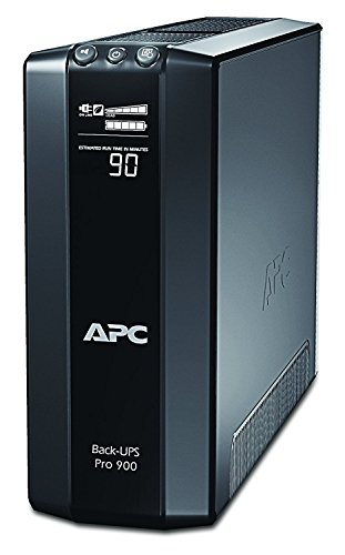 APC Back UPS PRO USV 900VA - BR900G-GR - inkl. 150.000 Euro Geräteschutzversicherung (5-Schuko, Stromsparfunktion, Multifunktionsdisplay) (- Backup-power Ups)