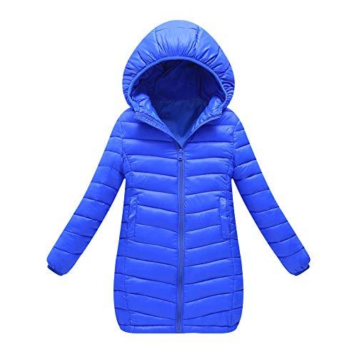 Sannysis Kinder Winterjacke Mädchen Jungen Kapuzenmantel Lange Abschnitt Jacke Dicke Warme Oberbekleidung Kleidung Klassische Outerwear