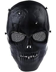SODIAL(R) Mascara Protectora Craneo Militar Amenazador Resistente Duradera PaintBall