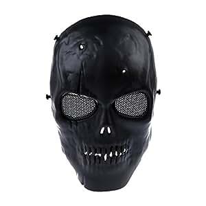 SODIAL(R) Crane Masque de Cranes Airsoft Masque de Protection Complet Noir Militaire