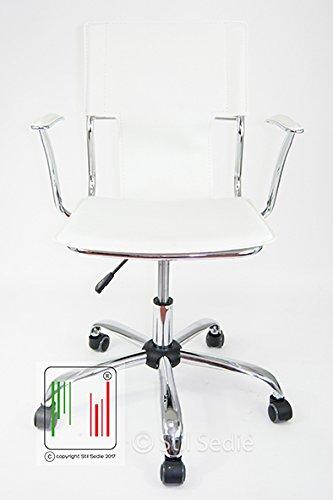Stil sedie - poltrona sedia ufficio girevole modello orion bianco