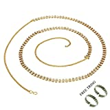 #10: PCM Gold Metal Two Line Belly Chain Kamarband For Women