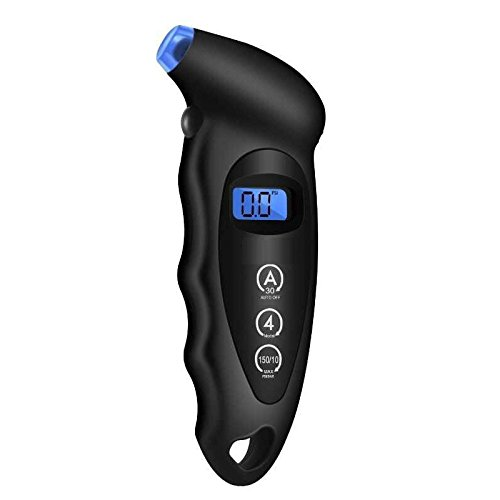 Tutoy Digital Tire Air Manometer Messgerät LCD Display Manometer Barometer Tester - Schwarz