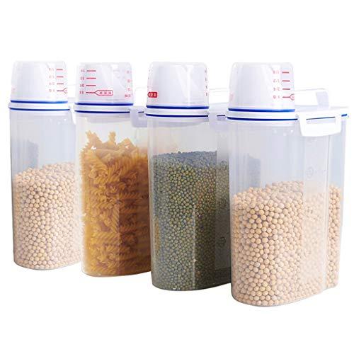 LRZLZY Erhalt von Nano-Fässern Getreidespeicher Eimer Küche liefert, Getreide und Feuchtigkeitsspeicher Nano 4 Snap