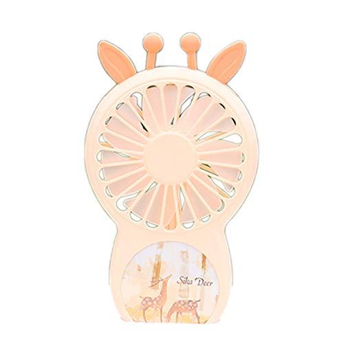 Wisilan Mini-Ventilator, tragbar, klein, mit Clip, zum Aufladen von kleinen Macaron-Lüftern, leiser Kühler, elektrischer Ventilator orange Orange 15×9 cm