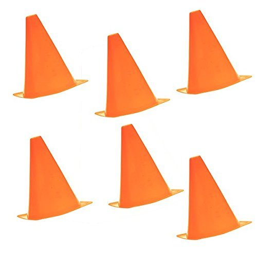 Yeah67886 6pcs Multifunction Safety Agility Cone for Basketball Sports Field Practice Drill Marking (Orange) Test