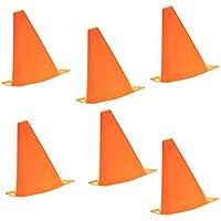 6pcs Cono de agilidad de seguridad para fútbol, deportes de campo, taladro, marcar (6 unidades), color naranja